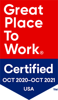 Great Place to Work Badge - October 2020 to October 2021